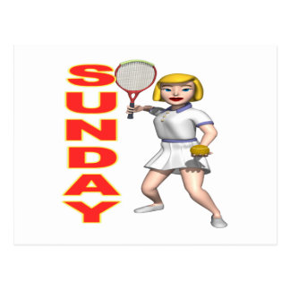 Sunday Tennis Postcard
