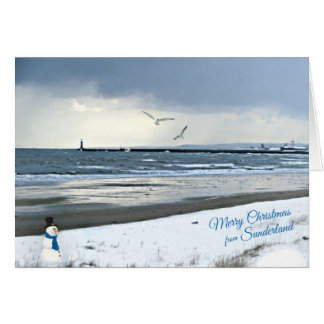 Sunderland - Roker Pier Christmas Card
