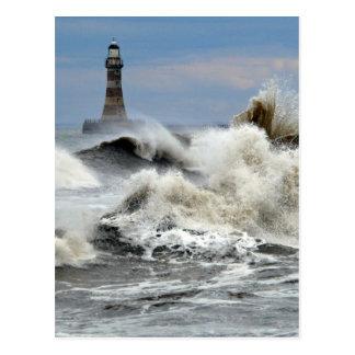 Sunderland - Roker Pier & Lighthouse Postcard