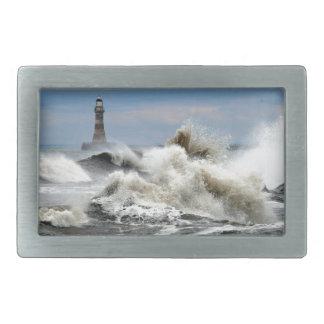 Sunderland - Roker Pier & Lighthouse Rectangular Belt Buckle