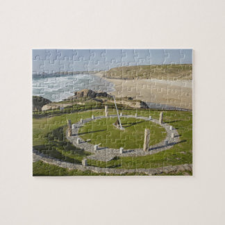 Sundial and Perran Beach, Perranporth, Cornwall, Jigsaw Puzzle