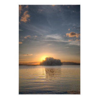 Sundown and island photograph