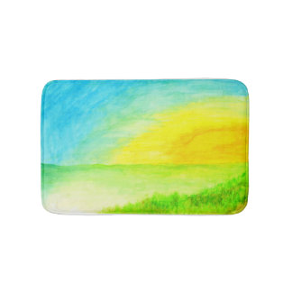 """Sundown Borderline"" Bath Mat"