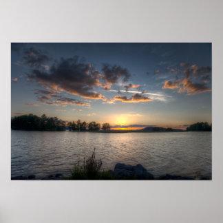 Sundown on horizon poster
