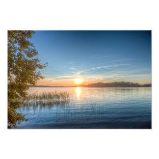 Sundown over an lake photograph