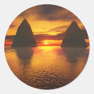 Sundown Round Sticker