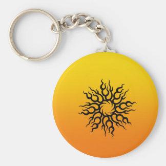 Sundown Tattoo Basic Round Button Key Ring