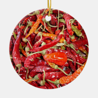Sundried Chili Peppers Christmas Ornament