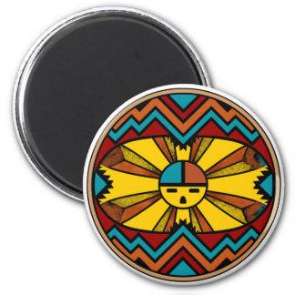 SunFaceRound 6 Cm Round Magnet