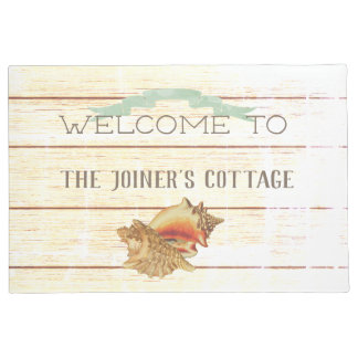 SunFade Rustic Beach Cottage Welcome Doormat