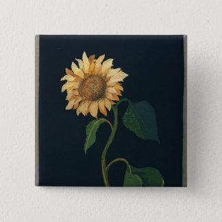 Sunflower 15 Cm Square Badge