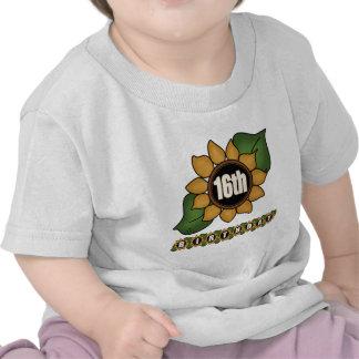 Sunflower 16th Birthday Gifts Tee Shirts