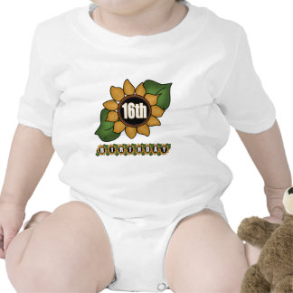 Sunflower 16th Birthday Gifts Bodysuit