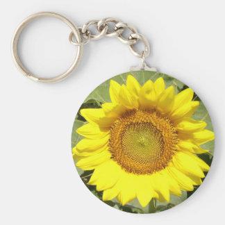 Sunflower 1 basic round button key ring