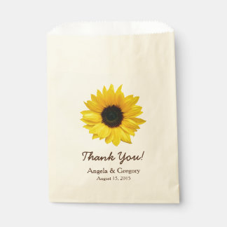 Sunflower 2 Candy Dessert Buffet Wedding Favor Favour Bags