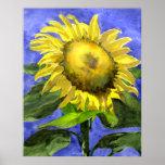 Sunflower 2 Watercolor Painting Art Print