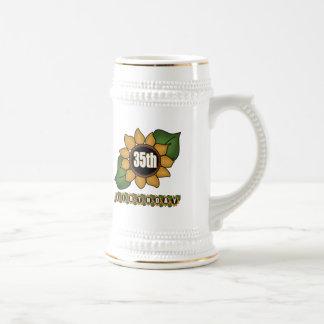 Sunflower 35th Birthday Gifts Beer Stein
