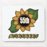 Sunflower 55th Birthday Gifts Mousemats