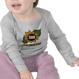 Sunflower 55th Birthday Gifts Tshirts