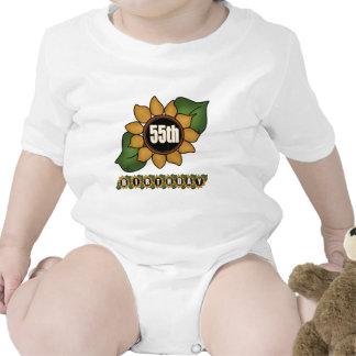Sunflower 55th Birthday Gifts Baby Bodysuit