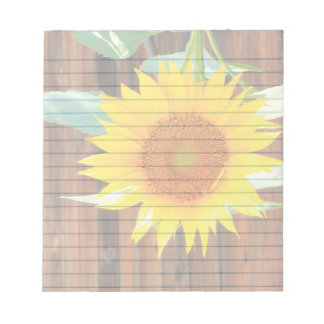 "Sunflower  5.5x6"" notepad"