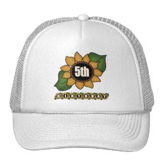 Sunflower 5th Birthday Gifts Trucker Hat