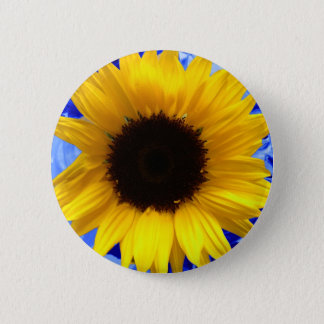 Sunflower 6 Cm Round Badge