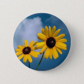 Sunflower 6 Cm Round Badge