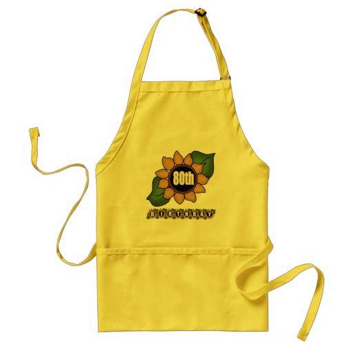 Sunflower 80th Birthday Gifts Aprons