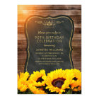 Sunflower 90th Birthday Party Rustic Fall Card