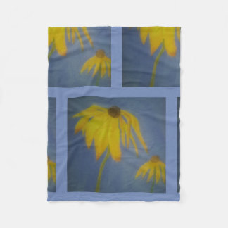 Sunflower Abstract Design Fleece Blanket
