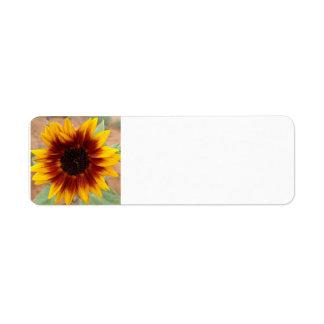 Sunflower address labels