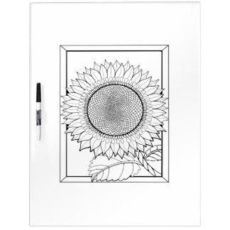 Sunflower Adult Coloring Dry Erase Board