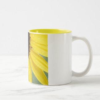 Sunflower After The Rain Two-Tone Mug