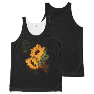 Sunflower All-Over Print Tank Top