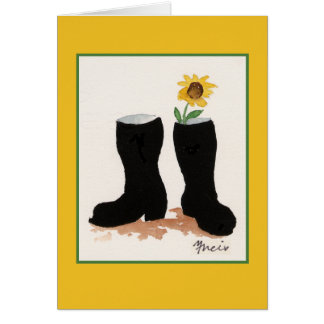 Sunflower and Boots Card