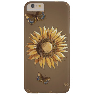 Sunflower and Butterflies Vintage Elegant Barely There iPhone 6 Plus Case