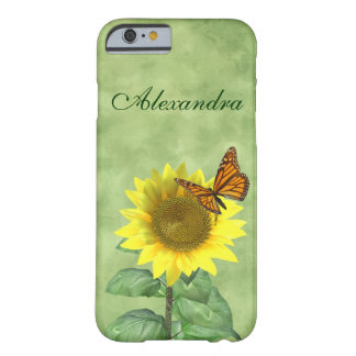 Sunflower and Butterfly Barely There iPhone 6 Case