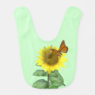 Sunflower and Butterfly Bib