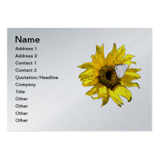Sunflower and butterfly business card templates