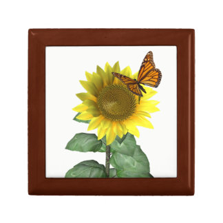 Sunflower and Butterfly Jewelry Box