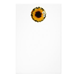 Sunflower and Daisies Curlicue Special Effect Stationery