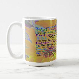 sunflower and healing words mug