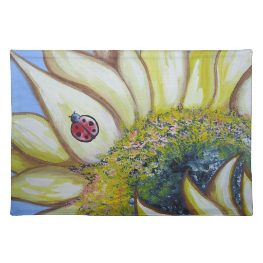 Sunflower and Ladybug Placemat