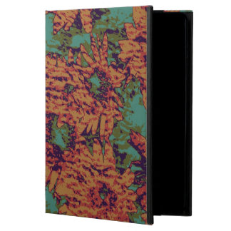 Sunflower and leaf camouflage pattern on cover for iPad air