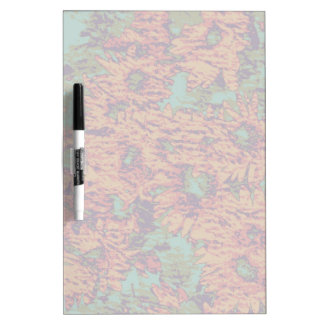 Sunflower and leaf camouflage pattern on Dry-Erase whiteboards