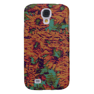 Sunflower and leaf camouflage pattern on galaxy s4 case
