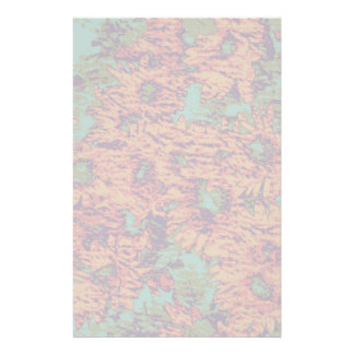 Sunflower and leaf camouflage pattern on stationery paper