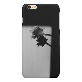 Sunflower and Shadow - Black and White Photograph iPhone 6 Plus Case