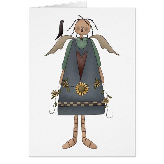 Sunflower Angel Card